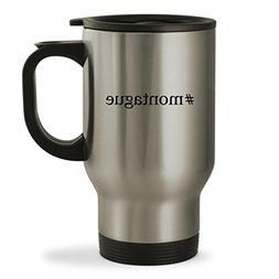 #montague - 14oz Hashtag Sturdy Stainless Steel Travel Mug,