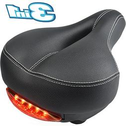 Most Comfortable Bicycle Saddle Seat with WATERPROOF LED TAI