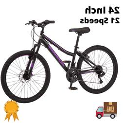Mountain Bike 24 Inch Girls Mongoose 21 Speeds Trail Ride Bi