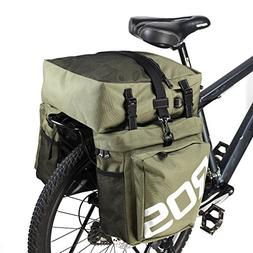 Mountain Bike Bag 3 in 1 Bicycle Pannier Rear Rack Seat Bag/