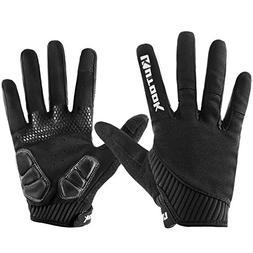 KUTOOK Mountain Bike Gloves, Gel Padded Cycling Gloves Full