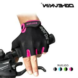 MTB Road Bike Cycling Gel Half Finger Gloves Short Finger Ou