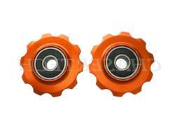 MTB Road Bike Rear Derailleur Jockey Wheel Pulley 10T Orange