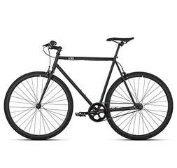 6KU Nebula 1 Fixed Gear Bicycle, Matte Black/Black, 55cm
