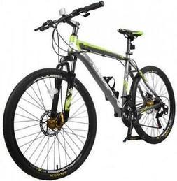 "New 26"" Merax Finiss Aluminum 21-Speed Mountain Bike With Di"