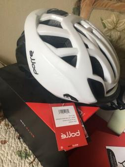 "New Bolle Bike Road Helmet ""The One"" White Black M 54-58"