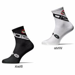 New Cycling Socks Men Sports Outdoor Black White Breathable