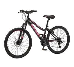 """NEW Mongoose Excursion Mountain Bike Girls 24"""" Black/Pink TR"""