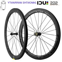 New Superteam Wheels 700C Clincher 50mm Carbon Wheelset Road