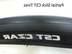 New CST Tire Czar 700X25 Black Partial Slick Road Bike Fixie
