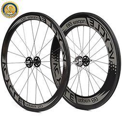VCYCLE Nopea 700C Carbon Fiber Track Bike Wheelset Clincher