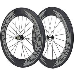VCYCLE Nopea 700C Carbon Racing Road Bicycle Wheelset 88mm C