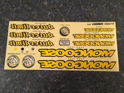 NOS OLD MID SCHOOL MONGOOSE OUTER LIMITS COMPLETE STICKER DE