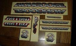 NOS Vintage BMX Mongoose Villain Bicycle Sticker Set