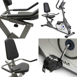 Marcy NS-40502R Recumbent Bike with 8 Magnetic Resistance Le