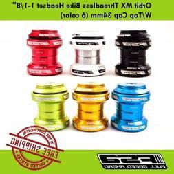 """FSA Orbit MX Threadless Bike Headset 1-1/8"""" W/Top Cap 34mm"""