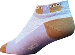 "SockGuy Classic Owl Womens Socks, cuff height 1"", size S / M"