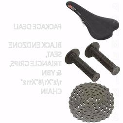 PACKAGE DEAL! BICYCLE SEAT GRIPS CHAIN BLACK - BIKES BMX ROA