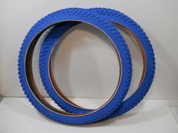 PAIR BLUE CHENG SHIN BICYCLE TIRES 20 X 1.75 JUMPER RACING B