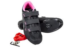 Tommaso Pista Women's Spin Class Ready Cycling Shoe - Black/