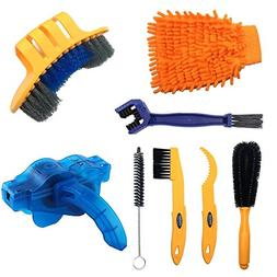 Anndason 8 Pieces Precision Bicycle Cleaning Brush Tool Incl