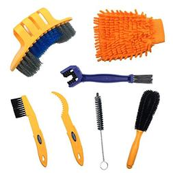 Anndason 7 Pieces Precision Bicycle Cleaning Brush Tool suit