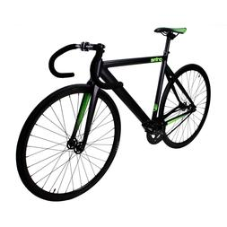 Zycle Fix Prime Alloy Track 700c Road Bike Bicycle Black Neo