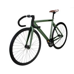 Zycle Fix Prime Alloy Track 700c Road Bike Bicycle Army Gree