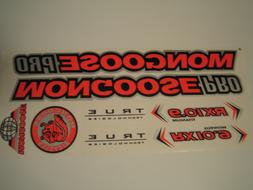 Mongoose PRO RX 10.9 Titanium Stickers Orange, Black & Silve