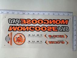 Mongoose PRO RX 10.9 Titanium Stickers  Orange, Black & Whit