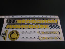 Mongoose PRO RX 10.9 Titanium Stickers Yellow, Silver & Blac