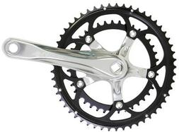 Origin8 Pro Pulsion Alloy Road Crankset, 172 x 53/39, Silver