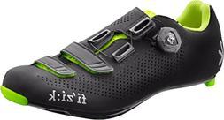 Fizik R4 UOMO BOA Road Cycling Shoes, Black/Fluorescent Yell