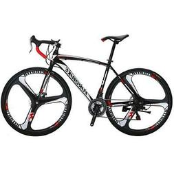 Racing Road Bike Steel Frame Speed Magnesium Alloy Double Di