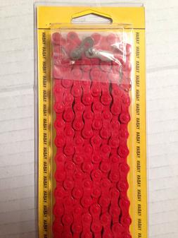 Red Bicycle Chain 1/2x3/32x116L For 15,18,21 Speed Bikes Roa