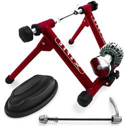 Xspec Red Fluid Exercise Bike Trainer Stand with Fluid Resis