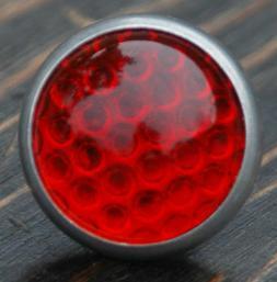 Red Round Glass Jewel Reflector Vintage Schwinn Bicycle Rack
