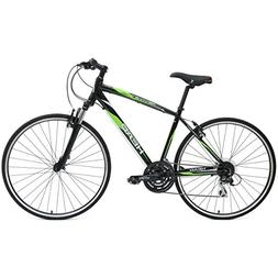 HEAD Revive XSM 700C Hybrid Road Bicycle, Black/Green, 18-In