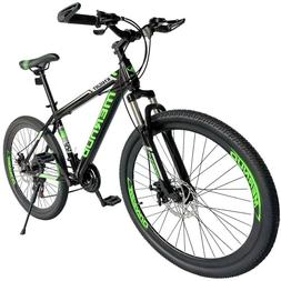 "Road Bike 21 Speed Bicycle Mens Bikes 26"" Front Suspension M"