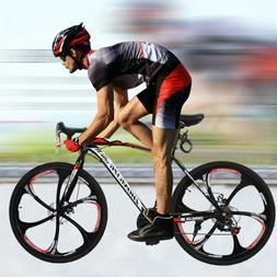Road Bike Shimano 21 Speed Bicycle 700C Mens Bikes Duble Dis
