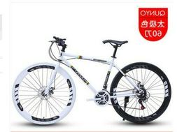 Road Bike 26 Inch 24 Speed Fixed Gear Double Disc Brake Adul
