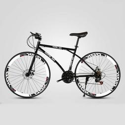 Road Bike 26 Inch 27 Speed Fixed Gear Double Disc Brake Adul