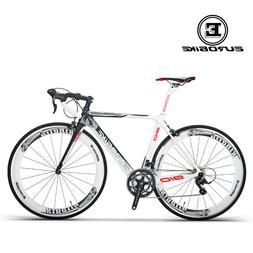 Road Bike 700C Carbon Fiber Frame 18 Speed Cycling Road Raci