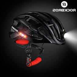 ROCKBROS Road Bike Cycling Ultralight Helmet USB Rechargeabl
