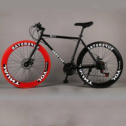 Road Bike Fixed Gear Speed Double Disc Brakes Men and Women