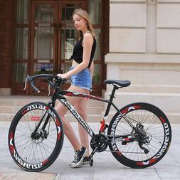 "Road Bike Men/Women 26"" Wheels 21 Speed Bicycle Without Susp"