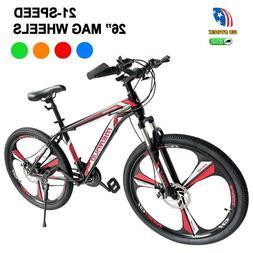 "Road Bike 21 Speed Bicycle Mens Bikes 26"" Front Suspension M"