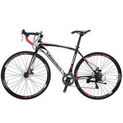 EUROBIKE Road Bike TSM550 49 cm Frame 21 Speed Dual Disc Bra