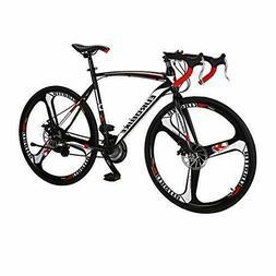Road Bikes XC550 700C Dual Disc Brake 21_Speeds 3-Spokes Whe