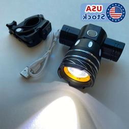 Road Bycicle Bike Front Light MTB LED Headlight Headlamp USB